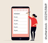 day planning and scheduling... | Shutterstock .eps vector #1022915869