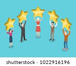 five stars rating flat... | Shutterstock .eps vector #1022916196