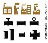 pipe fittings vector icons set. ... | Shutterstock .eps vector #1022920414
