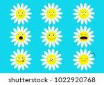 white daisy chamomile icon... | Shutterstock .eps vector #1022920768