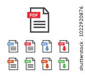 pdf file download icon.... | Shutterstock .eps vector #1022920876