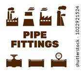 pipe fittings vector icons set. ... | Shutterstock .eps vector #1022921524