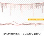 string beads realistic isolated.... | Shutterstock .eps vector #1022921890