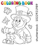 coloring book leprechaun 3  ... | Shutterstock .eps vector #1022921989