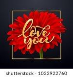 gerbera flower background and...   Shutterstock .eps vector #1022922760