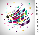 abstract geometric isometric... | Shutterstock .eps vector #1022922913