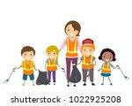 illustration of stickman kids... | Shutterstock .eps vector #1022925208