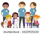 illustration of stickman kids... | Shutterstock .eps vector #1022925220