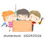 illustration of kids holding a... | Shutterstock .eps vector #1022925226