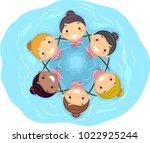 illustration of stickman kid... | Shutterstock .eps vector #1022925244