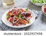 crispy halloumi cheese sticks...   Shutterstock . vector #1022927458