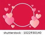 background with paper cut... | Shutterstock .eps vector #1022930140