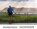 woman westerner travel in... | Shutterstock . vector #1022933209