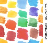 watercolor strokes seamless... | Shutterstock . vector #1022934796