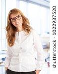 an executive attractive... | Shutterstock . vector #1022937520