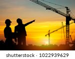 silhouette of engineering and... | Shutterstock . vector #1022939629