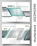 business templates for bi fold... | Shutterstock .eps vector #1022942590