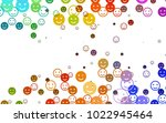 light multicolor  rainbow... | Shutterstock .eps vector #1022945464