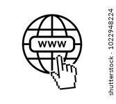 internet icon. world net... | Shutterstock .eps vector #1022948224