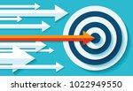 volume target icon in flat... | Shutterstock .eps vector #1022949550