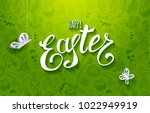 template vector card with paper ... | Shutterstock .eps vector #1022949919