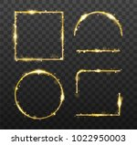 golden glowing frames and... | Shutterstock .eps vector #1022950003