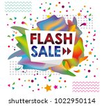 poster or display for flash... | Shutterstock .eps vector #1022950114