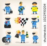 set of colorful racing... | Shutterstock .eps vector #1022950204