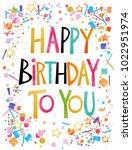 happy birthday card   Shutterstock . vector #1022951974
