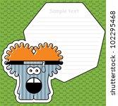 cartoon monster with message...   Shutterstock .eps vector #102295468