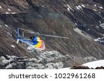 rescue helicopter in annapurna... | Shutterstock . vector #1022961268