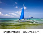 wind boat at the boracay island ... | Shutterstock . vector #1022961274