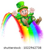 a cute st patricks day... | Shutterstock .eps vector #1022962738
