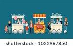 creative detailed vector street ... | Shutterstock .eps vector #1022967850