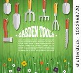 concept of gardening. garden...   Shutterstock .eps vector #1022968720