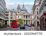 st. paul's cathedral  london  uk | Shutterstock . vector #1022969770