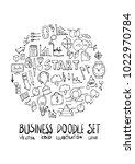 business doodle illustration... | Shutterstock .eps vector #1022970784