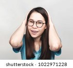 young asian woman with long... | Shutterstock . vector #1022971228