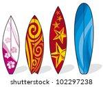 set of surfboards    Shutterstock .eps vector #102297238