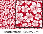 seamless floral pattern whit... | Shutterstock .eps vector #102297274