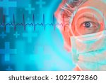 female cardiologist with normal ... | Shutterstock . vector #1022972860