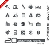 business   finance icons   ... | Shutterstock .eps vector #102297304