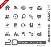 website icons    basics | Shutterstock .eps vector #102297349