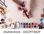 handmade beading preparation   Shutterstock . vector #1022973829