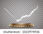 round podium  pedestal or... | Shutterstock .eps vector #1022974936