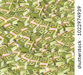 seamless pattern with money.... | Shutterstock .eps vector #1022974939