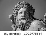 ancient bust of nile river god | Shutterstock . vector #1022975569