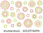 watercolor red  green and... | Shutterstock . vector #1022976094