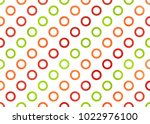 watercolor red  green and... | Shutterstock . vector #1022976100