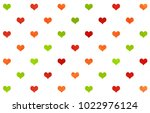 watercolor red  green and... | Shutterstock . vector #1022976124